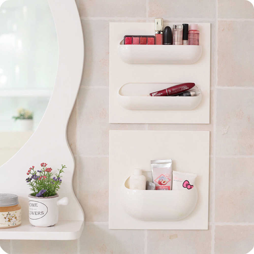 Selbst-Adhesive Wand Schwimm Lagerung Rack Hängen Rack Organizer Wand Korb für Küche Schlafzimmer Wohnzimmer Bad