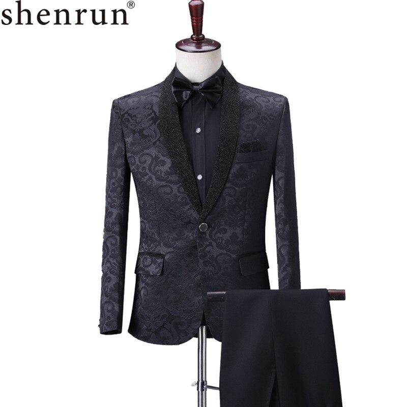 UK Men Lapel Floral Print Button Suit Party Ball Gown Evening Slim Formal Blazer