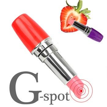 Barra de labios portátil, vibrador, Mini bala secreta, vibrador, estimulador de clítoris, masajeador de punto G, Juguetes sexuales para mujer, masturbador silencioso