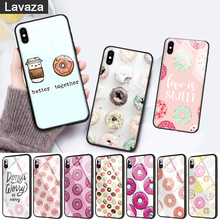 WEBBEDEPP pink sweet donut Hot Glass Phone Case for Apple iPhone 11 Pro X XS Max 6 6S 7 8 Plus 5 5S SE