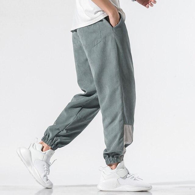 Nuevos pantalones informales para hombre, pantalones holgados 2