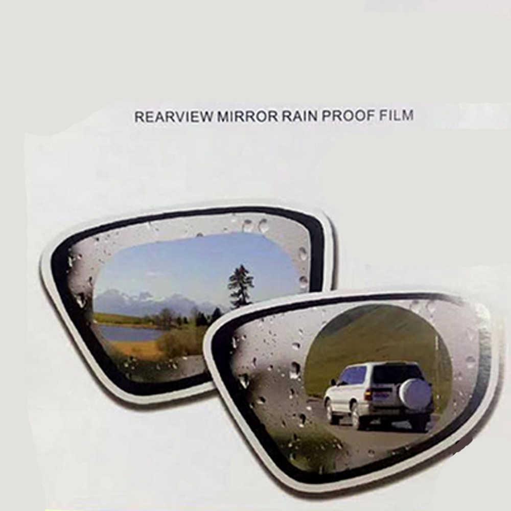 2 unids/par ventana del espejo del coche película transparente Anti deslumbrante retrovisor del coche película protectora para espejo impermeable Anti niebla etiqueta engomada del coche