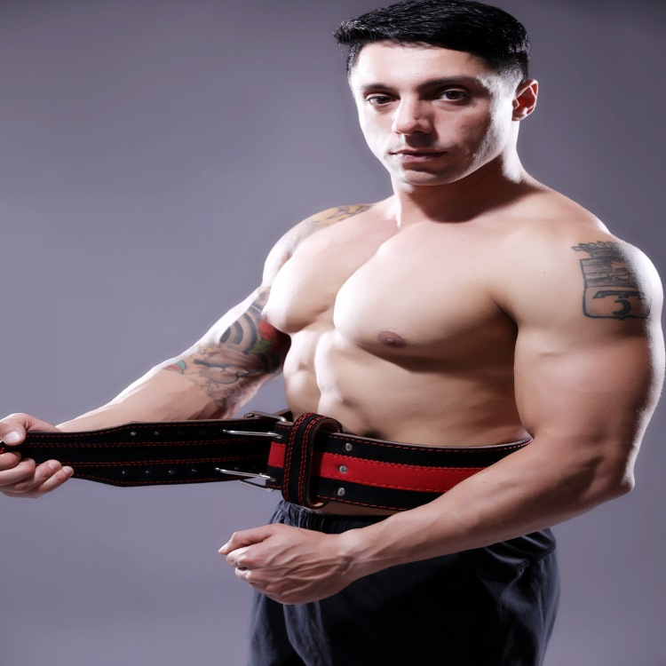 Profession Weightlifting Five-Tier Cowhide Hard Pull Squat Weight Powerlifting Training Waist Supporter