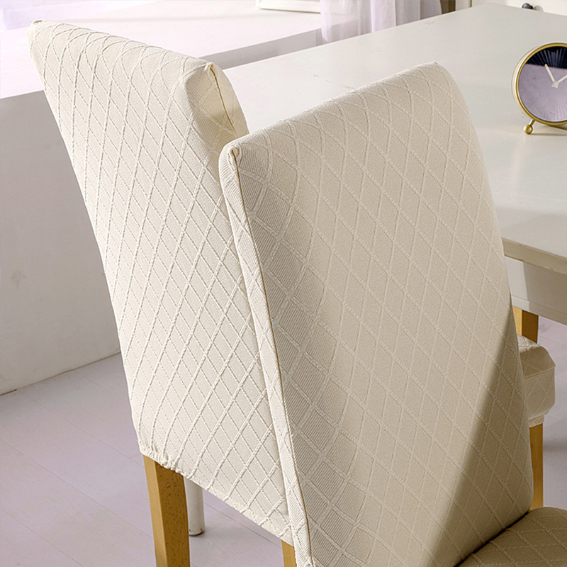 1/4/6 Pcs Jacquard Plain Dining Chair Cover Spandex Elastic Chair Slipcover Case Stretch Chair Cover for Wedding Hotel Banquet 4