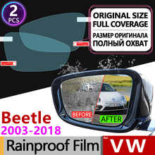 for Volkswagen VW New Beetle 2003 - 2018 A5 Full Cover Anti Fog Film Rearview Mirror Rainproof Anti-Fog Films Accessories