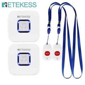 Image 1 - Retekess bakıcı çağrı cihazı kablosuz SOS çağrı düğmesi hemşire çağrı uyarısı hasta yardım sistemi ev yaşlı hasta