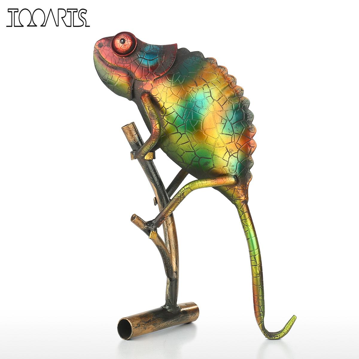 Lizard Animal Figurine Ornaments Home Furnishing Art Metal Sculpture Home Decoration Accessories Gift For Boyfriend Statue Chien