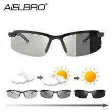AIELBRO Polarized Photochromic Cycling Glasses Bike Glasses Outdoor Sports Men W