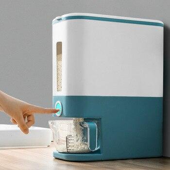Mrosaa cozinha arroz caixa de armazenamento balde à prova de umidade à prova de insetos selado cereais seco alimentos caixa de armazenamento de grãos recipiente de arroz