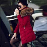 6 colores de alta calidad de invierno chaqueta de plumón de las mujeres abrigo largo ropa caliente chaqueta de invierno abrigo de invierno de las mujeres abrigos mujer invierno