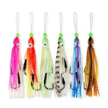 12 sztuk haki wspomagające z przynęty w kształcie krewetek, Inchiku Assist na duży rozmiar Jig, ośmiornica Squid Snapper Jigs Hook, 6 kolorów mieszane