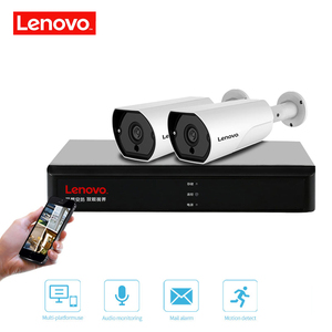 Image 5 - LENOVO 2CH 1080P POE NVR Kit 2.0MP HD CCTV Security camera System Audio monitor IP Camera P2P Outdoor Video Surveillance System
