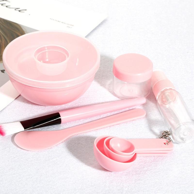 YBLNTEK Face Mask Mixing Bowl Set DIY  Face Mask Makeup Tool Mixing Bowl Brush Spoon Stick Beauty Cosmetology Facial Care Device