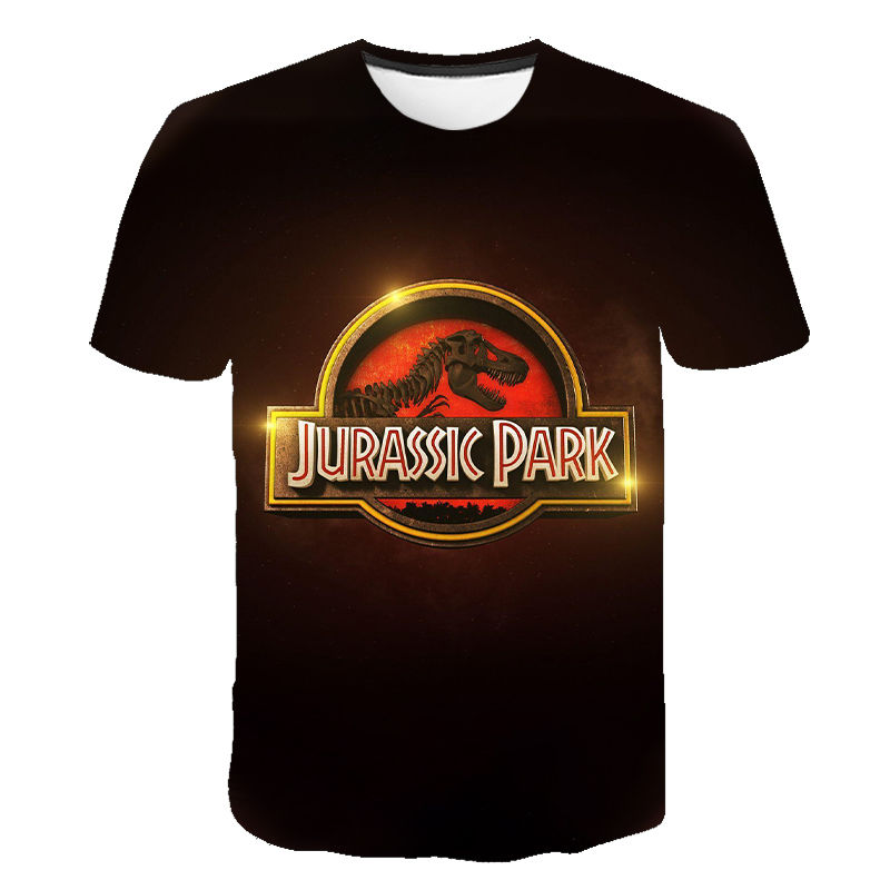 Funny Jurassic Park Men's T-shirt Men's and Women's 3D Printed T-shirt Casual Top Jurassic World Tee Cool T-shirt for Kids