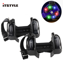 Roller-Skating-Shoes Pulley Heel-Roller Flash-Wheels Adjustable Colorful Kids Whirlwind