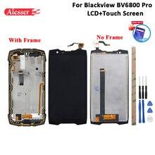 Alesser עבור Blackview BV6800 Pro LCD תצוגת מסך מגע + מסגרת + סרט + כלים ודבק עבור Blackview BV6800 Pro 5.7