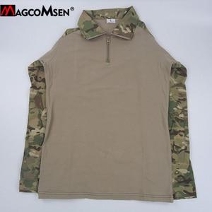 Image 5 - MAGCOMSEN camisetas tácticas de combate de camuflaje del ejército para hombre, camisetas militares de manga larga, Airsoft, Paintball, caza