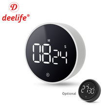 Deelife Digital Kitchen Timer Magnetic for Cooking Shower Study Stopwatch Clock Electronic Mechanical Countdown Time
