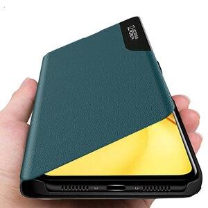 Image 1 - poko m 3 pro case smart side view window leather flip for xiaomi pocophone poco m3pro m3 pro 5g 2021 magnetic bracket book coque