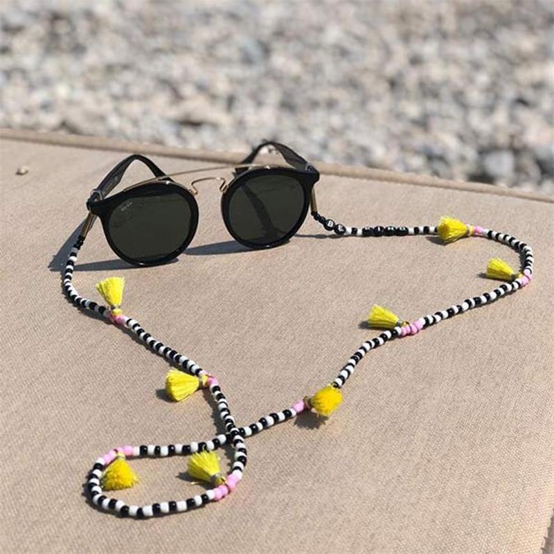 Fashion Women Tassel Eyeglass Eyewears Sunglasses Reading Glasses Chain Cord Holder Boho Neck Strap Rope Jewelry
