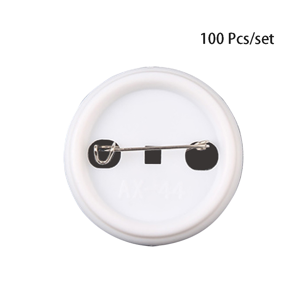 100Pcs Handmade Needwork Material Tinplate Badge Eco Friendly Decoration Craft Art DIY Clothes Sewing <font><b>Pin</b></font> <font><b>Button</b></font> Parts Gift image