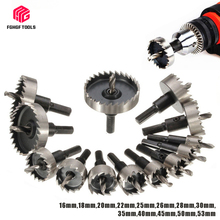13pcs 16-53mm Hole Saw set Durable HSS Stainless Steel hole saw cutter for metal Wood Alloy Cutting Tool drill bit cutting set 12pc hole saw tooth kit hss steel drill bit set cutter tool for metal wood alloy