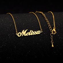 купить GORGEOUS TALE Personalized Name Necklace Christmas Gift Stainless Steel Customized Nameplate Collares Mujer 2017 Custom Jewelry дешево