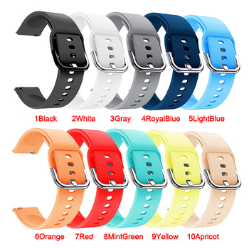 20mm 22mm Soft Silicone Watch Strap Band for Samsung Galaxy 42mm Active2 40mm 3 41 45mm Huami Amazfit - discount item  53% OFF Watches Accessories