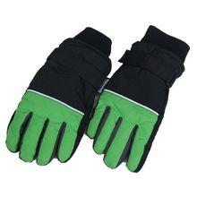 Детские лыжные перчатки зимние теплые водонепроницаемые ветрозащитные зимние детские митенки для улицы