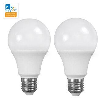 2PCS eWeLink WiFi Smart led lamp Light Bulb E27 9W 3000K or 6000K Lights Google Home Mini Alexa Compatible Smart Home Automation 2pcs lot cdebyte e18 ms1 ipx spi smd 2 4ghz cc2530 wireless zigbee smart home automation module