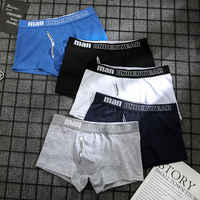Calzoncillos bóxer de algodón para hombre, ropa interior, pantalones cortos, 365