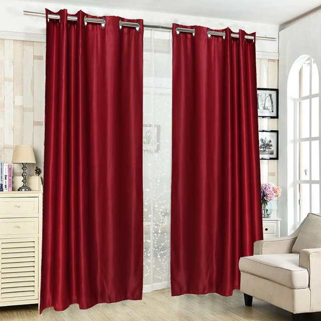 Bedroom Draperies Panels Blackout Window Curtains Living Room Bedroom Curtains for Window Treatment Drapes Solid Finished 2