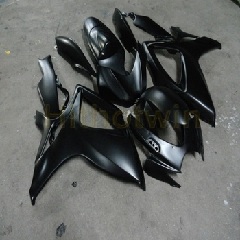 Custom motorcycle fairings for GSX-R600 R750 2006 2007 K6 body kit Body Kit motor panels+Botls+black