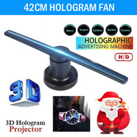 Funny 224 LEDs 3D Hologram Dispaly Projector Fan New 3D Hologram Projector Fan Holographic Business Advertising