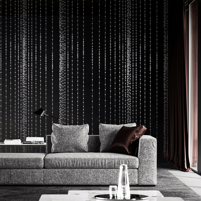 Modern Minimalist Abstract Bead Curtain PVC Wallpaper Living Room Television Background Wall KTV Bar Red Wallpaper A Generation