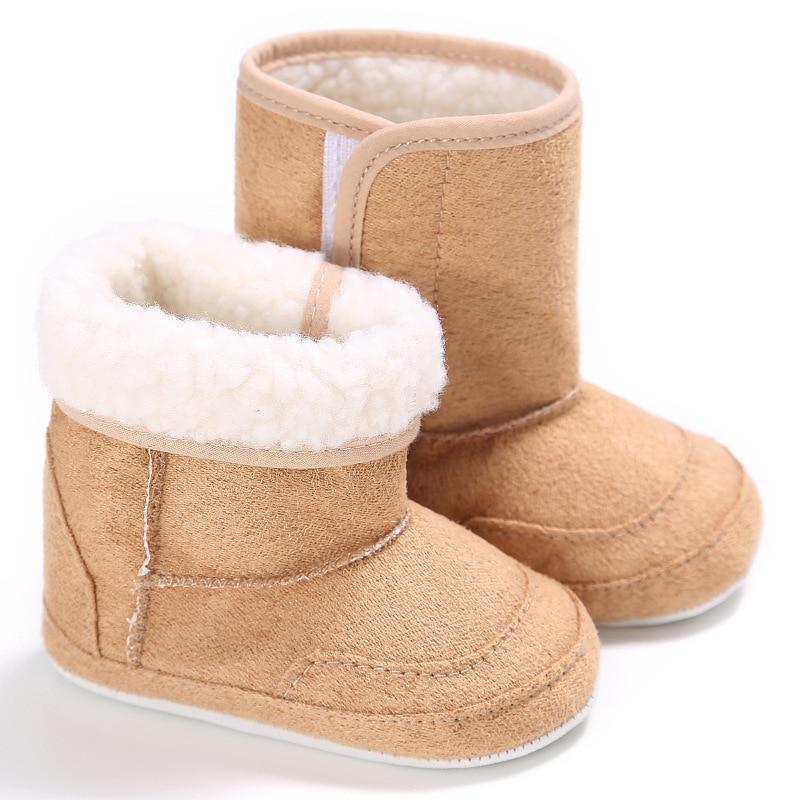 Fityle Newborn Kid Baby Boy Girl Snow Shoes Winter Soft Sole Prewalker Crib Boots