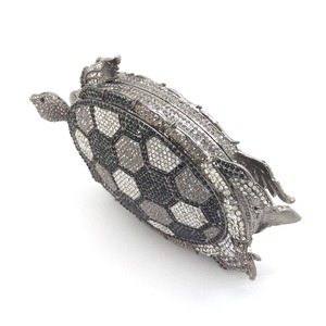 Image 3 - Boutique De FGG Novelty Diamond Turtle Minaudiere Evening Bags for Women Formal Wedding Party Crystal Clutch Purses and Handbags