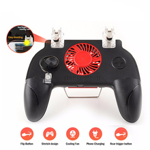 Four Finger PUBG Game Controller Gamepad Joystick Cooling Fa