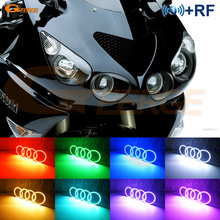 For Kawasaki Ninja ZX14 zx14r ZZR1400 2006 2011 RF Remote Bluetooth Controller Multi Color Ultra bright RGB LED Angel Eyes kit