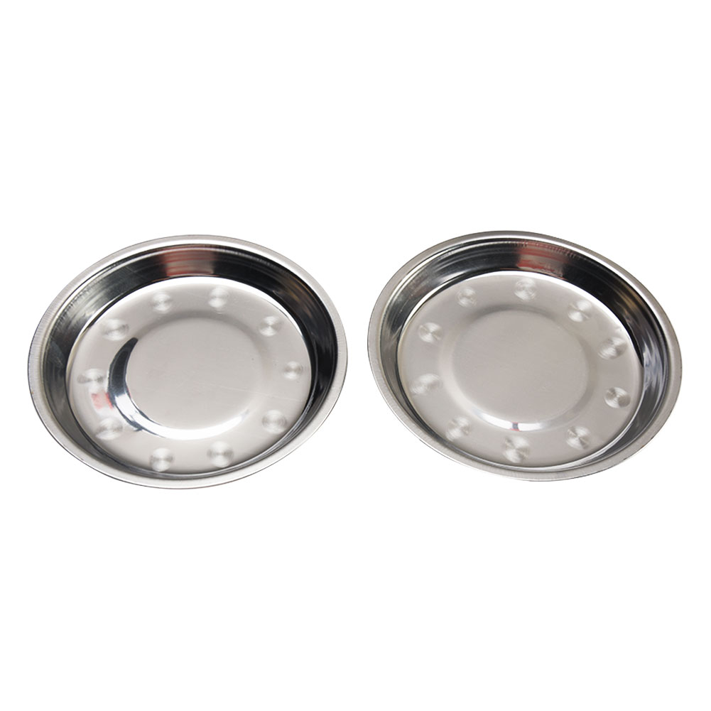 Camping 16-28cm Dia Stainless Steel Tableware Dinner Plate Food Container Salad Dessert Fruit Services Dish Tray