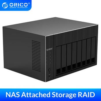 "ORICO OS Series NAS 2.5"" 3.5"" Hard Drive Enclosure 8 Bay Network Attached Storage with RAID Gen7 SATA to USB3.0 HDMI HDD Case"