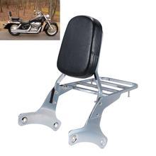 Motorcycle backrest Sissy Bar Cushion pad For Honda Shadow VT750 VT400 1997-2003