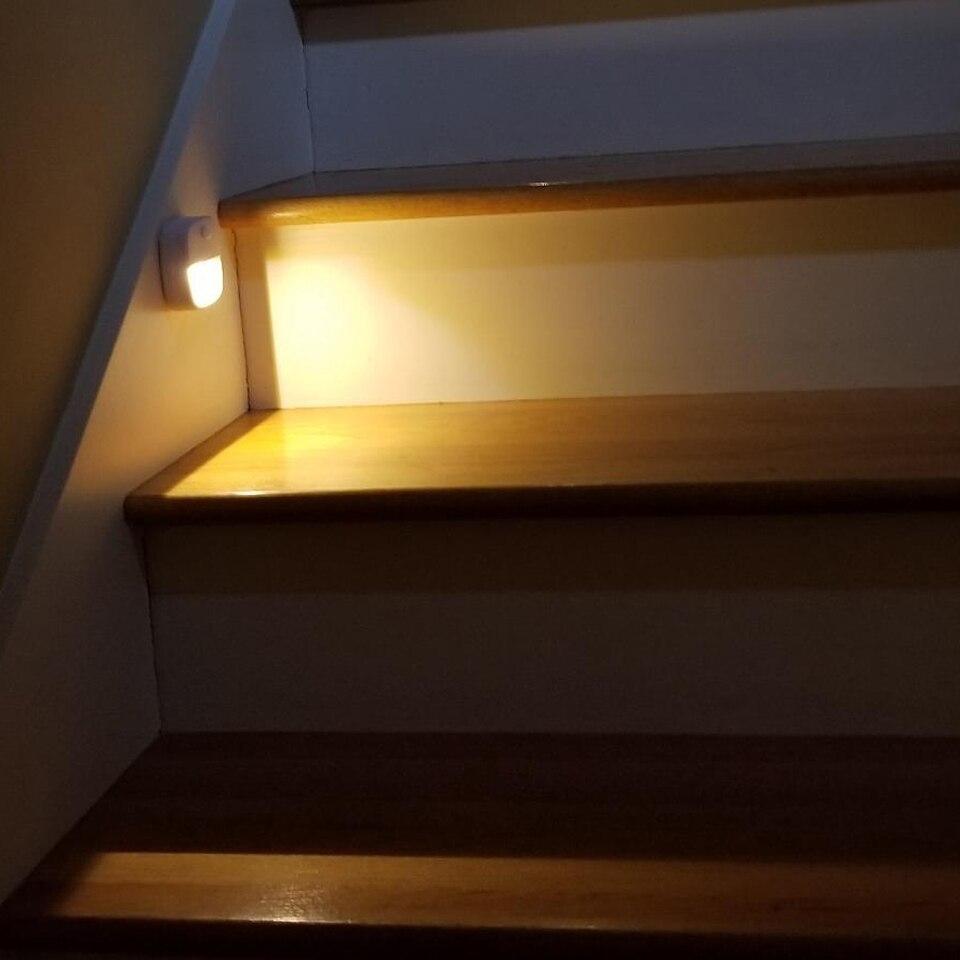 Smart PIR Motion Sensor Night Light Stick-Anywhere Closet Light Wall Light For Home Bedroom Bathroom Kitchen Hallway Stairs Lamp