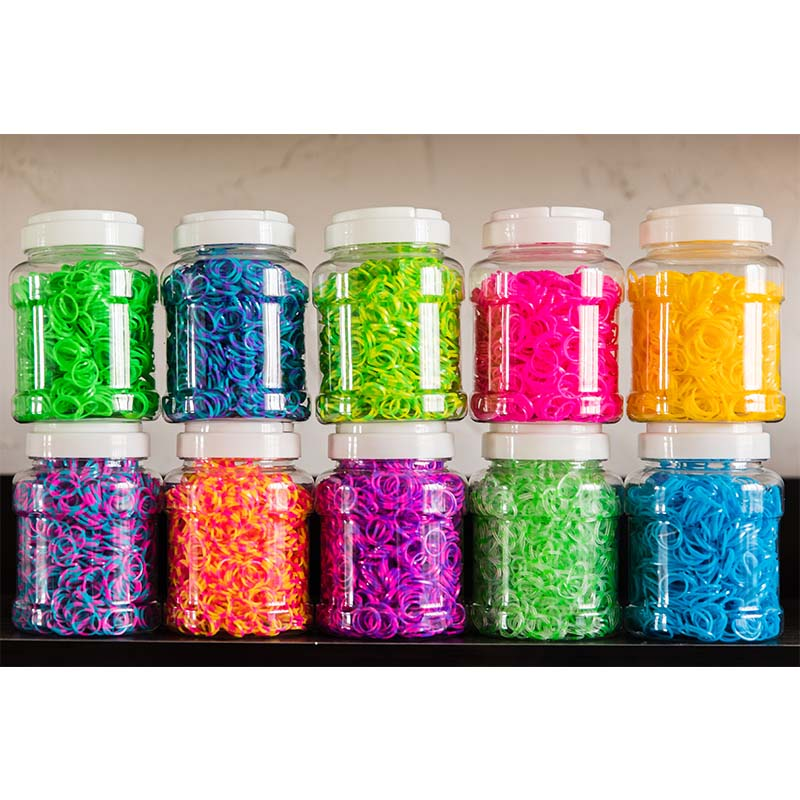 1800Pc Rubber Loom Bands DIY Baby Toys For Children Set Kid Lacing Rainbow Bracelet Rubber Bands Elastic Weave Girl Gifts