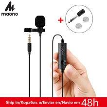 MAONO AU-100 Lavalier Audio Video Telefon Mikrofon Kondensator Mic Recorder für iPhone Xs Max X 8 Plus Canon Nikon DSLR camcorder