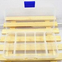 10 Grids Fächer Kunststoff Transparent Organizer Jewel Perle Fall Abdeckung Container Lagerung Box für Schmuck Pille-in Aufbewahrungsboxen & Behälter aus Heim und Garten bei