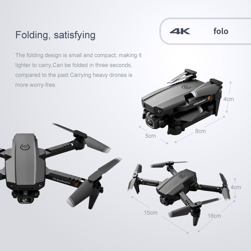 2020 New Mini Drone XT6 4K 1080P HD Camera WiFi Fpv Air Pressure Altitude Hold Foldable Quadcopter RC Drone Kid Toy GIft 5