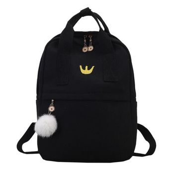 Backpack Women Embroidered Pattern Canvas Backpack Laptop Backpack School Bags For Teenage Girls Travel Bag Rucksack Mochila women external usb charging casual backpack canvas backpack male mochila escolar girls laptop school bags backpack for teens