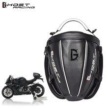 GHOST RACING Motorcycle Rear Bag Back Seat Bag Oxford Waterproof Motocross Moto Top Case Multi-functional Motorcycle saddle Bag