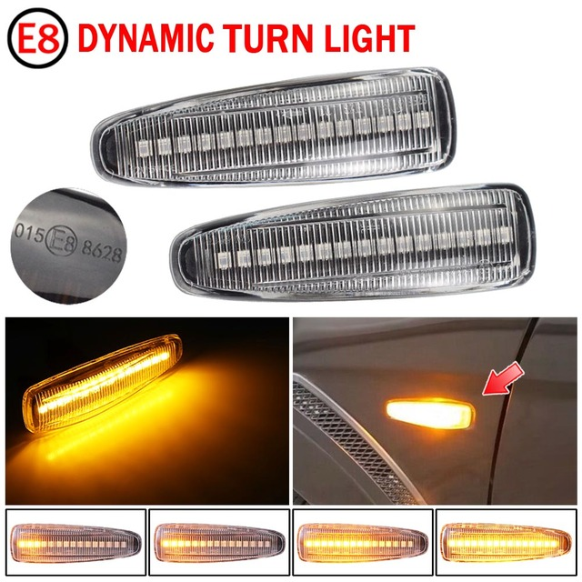 2pcs Flowing Led Dynamic Turn Signal Light For Mitsubishi Mirage 2014 2019 Side Marker Light Sequential Blinke